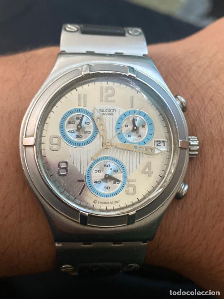 """Relojes - Swatch: Swatch - 2007 Reloj Swatch IRONY CHRONO Serie """"Escala de plateados - Foto 6 - 273120448"""
