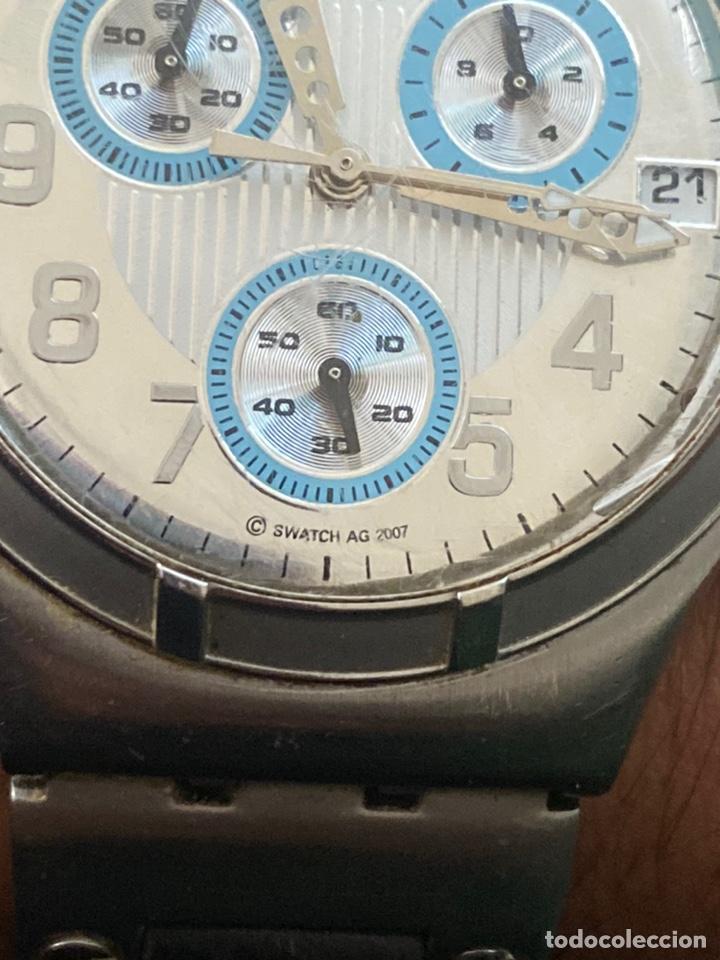 """Relojes - Swatch: Swatch - 2007 Reloj Swatch IRONY CHRONO Serie """"Escala de plateados - Foto 7 - 273120448"""