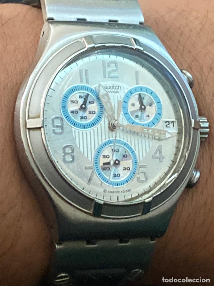 """Relojes - Swatch: Swatch - 2007 Reloj Swatch IRONY CHRONO Serie """"Escala de plateados - Foto 8 - 273120448"""