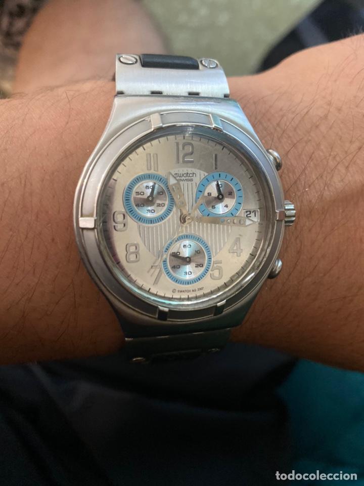 """Relojes - Swatch: Swatch - 2007 Reloj Swatch IRONY CHRONO Serie """"Escala de plateados - Foto 2 - 273120448"""