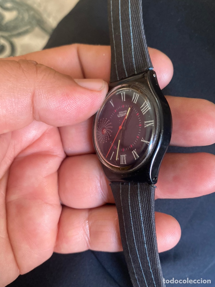 Relojes - Swatch: Reloj Swatch GB 416 BARAJAS Original Made in Switzerland 1991 - Foto 9 - 273128333