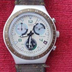 Montres - Swatch: RELOJ SWATCH IRONY ALUMINIUM CUARZO FUNCIONA .MIDE 39.3 MM DIAMETRO. Lote 273745208