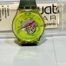 Relojes - Swatch: SWATCH TECHNO SPHERE GREEN GK 101. VINTAGE 1985. CAJA Y PAPELES. FUNCIONANDO. MBE.. Lote 276704833