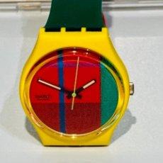 Relojes - Swatch: SWATCH MCGREGOR GJ 100. VINTAGE 1985. CAJA ORIGINAL Y PAPELES. FUNCIONANDO. IMPECABLE.. Lote 276710178
