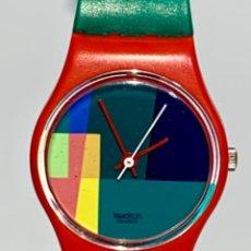 Relojes - Swatch: SWATCH MC SWATCH LR 105. 1985 VINTAGE. CAJA ORIGINAL Y PAPELES. FUNCIONANDO. MUY BUEN ESTADO.. Lote 276714898