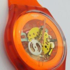 Relojes - Swatch: SWATCH® ORANGE SKELETON. Lote 277300383