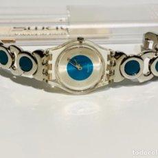 Relojes - Swatch: RELOJ SWATCH LK228G (APARATOSO). ACERO INOXIDABLE Y TURQUESA. MUJER. 2003. FUNCIONANDO. MBE. Lote 277831808