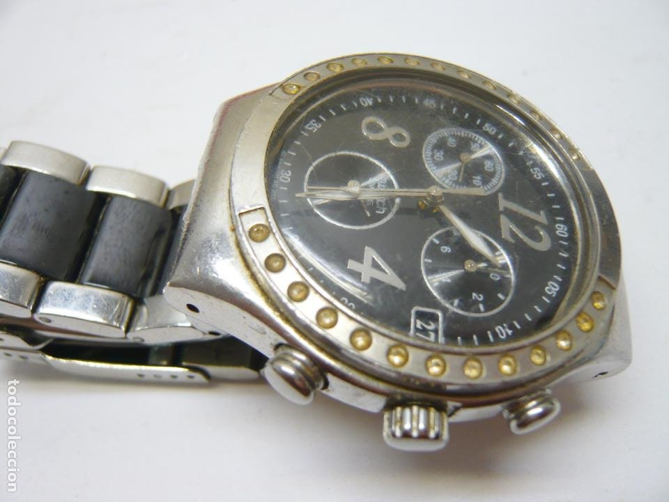 Relojes - Swatch: RELOJ SWATCH IRONY, ACERO INOXIDABLE, CRONÓGRAFO, CALENDARIO. - Foto 2 - 282250258