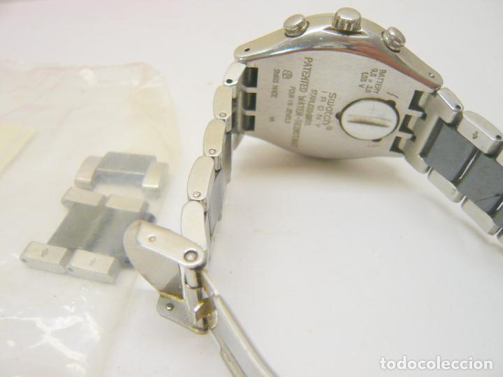 Relojes - Swatch: RELOJ SWATCH IRONY, ACERO INOXIDABLE, CRONÓGRAFO, CALENDARIO. - Foto 3 - 282250258