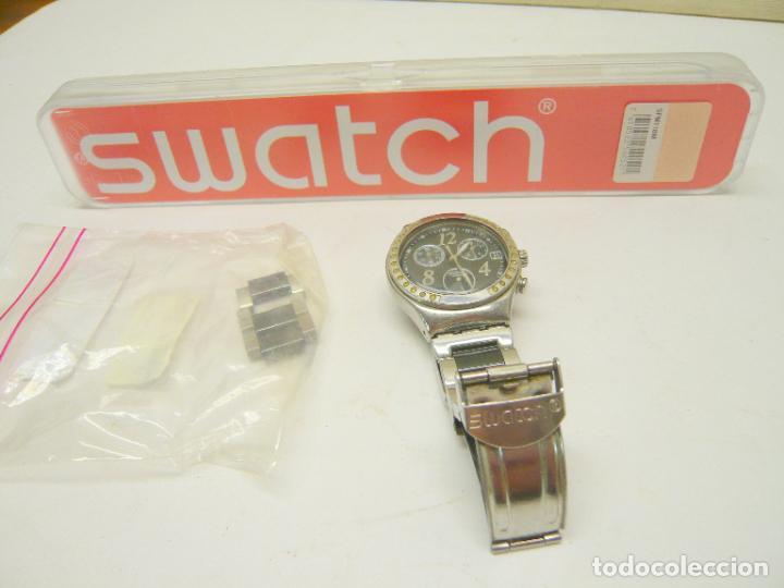 RELOJ SWATCH IRONY, ACERO INOXIDABLE, CRONÓGRAFO, CALENDARIO. (Relojes - Relojes Actuales - Swatch)