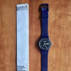Relojes - Swatch: SWATCH GN700 RELOJ DE PULSERA VINTAGE DE 1983 – SUIZO ORIGINAL, DE LA PRIMERA SERIE – 7 AGUJEROS. Lote 285322953