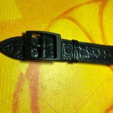 Relojes - Swatch: CORREA PARA RELOJ SWATCH PIEL AZUL NUEVA. Lote 292505323