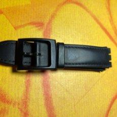 Relojes - Swatch: CORREA PARA RELOJ SWATCH PIEL NEGRA NUEVA. Lote 292505403