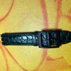 Relojes - Swatch: CORREA PARA RELOJ SWATCH PIEL VERDE NUEVA. Lote 292505563