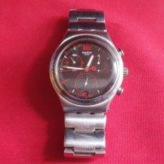 Relojes - Swatch: RELOJ SWATCH IRONY CORREA DE ACERO .HAY QUE PONER PILA.MIDE 39.5 MM DIAMETRO. Lote 293561338