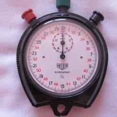 Relojes - Tag Heuer: RELOJ CRONOMETRO DEPORTIVO HEVER DE CUERDA. Lote 85845724