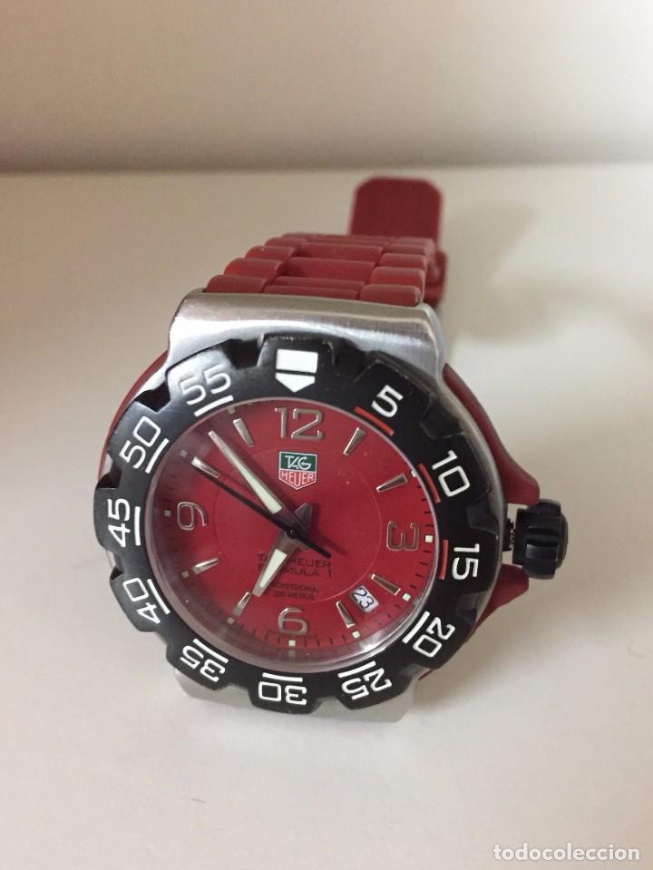 Reloj tag heuer formula 1 rojo caucho - Vendido en Venta