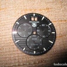 Relojes - Tag Heuer: ESFERA ORIGINAL TAG HEUER AQUARACER FONDO NEGRO DIAMETRO 31 MM. Lote 96068243