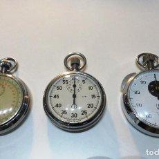 Relojes - Tag Heuer: TRES (3) CRONÓMETROS USADOS EN SUBMARINOS DE DISTINTAS ÉPOCAS, FUNCIONANDO. Lote 96298239