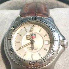 Relojes - Tag Heuer: TAG HEUER W1-1310 MUJER-BUCEO PROF 200M-ACERO/CUARZO/CRISTAL/CUERO - CAJA ORIGINAL. Lote 105789763