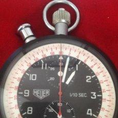 Relojes - Tag Heuer: HEVER VINTAGE & BIG POCKET ,CHRONOGRAPH HEUER ,SPLIT 1/10,SCHELEPPZIGER,MULTI COLOR DIAL BJ-1972. Lote 129127815