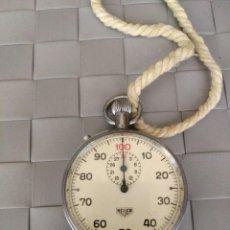 Relojes - Tag Heuer: CRONOGRAFO ANTIGUO HEUER METALICO, ORIGINAL AÑOS 60.. Lote 142387486