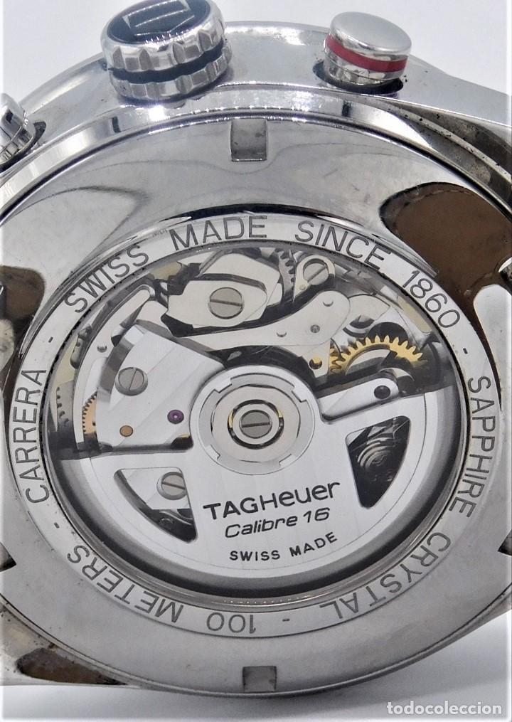 Relojes - Tag Heuer: TAG HEUER CARRERA CALIBRE 16-AUTOMÁTICO-CON DOCUMENTACIÓN-DE CABALLERO - Foto 3 - 163512134
