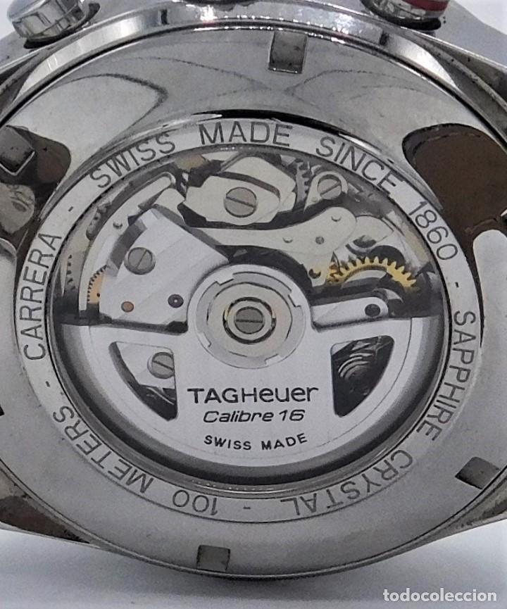 Relojes - Tag Heuer: TAG HEUER CARRERA CALIBRE 16-AUTOMÁTICO-CON DOCUMENTACIÓN-DE CABALLERO - Foto 12 - 163512134