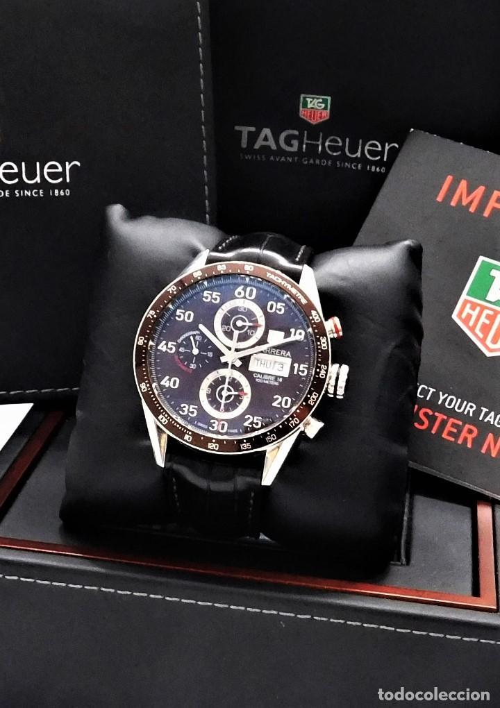 Relojes - Tag Heuer: TAG HEUER CARRERA CALIBRE 16-AUTOMÁTICO-CON DOCUMENTACIÓN-DE CABALLERO - Foto 13 - 163512134