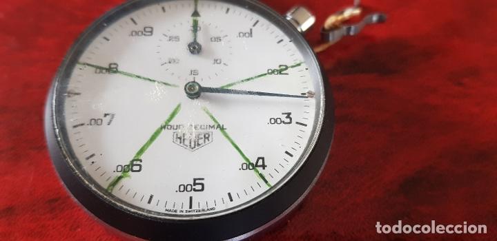 Relojes - Tag Heuer: HEUER CRONOMETRO HOUR DECIMAL FUNCIONANDO - Foto 5 - 182605471