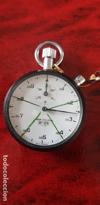 Relojes - Tag Heuer: HEUER CRONOMETRO HOUR DECIMAL FUNCIONANDO - Foto 6 - 182605471