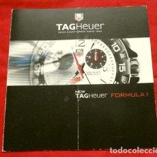 Relojes - Tag Heuer: RELOJES TAG HEUER FORMULA 1 - SWISS - FOLLETO - CATÁLOGO PUBLICITARIO - TRÍPTICO - VER FOTOS. Lote 192647325