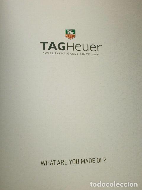 Relojes - Tag Heuer: Gran CATALOGO Relojes TAG HEUER - 111 páginas con lista de precios 2005 - Tagheuer publicitario 2001 - Foto 4 - 192649397