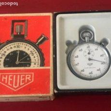 Orologi - Tag Heuer: HEUER LEÓNIDAS HOUR DECIMAL 7 JEWELS CRONÓMETRO 1960 EN SU CAJA. . Lote 194175058