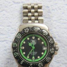Relojes - Tag Heuer: RELOJ DE PULSERA TAG HEUER FORMULA 1 PROFESIONAL 200 MTS, RARA ESFERA VERDE, NUMERADO : WA1215. Lote 207182330