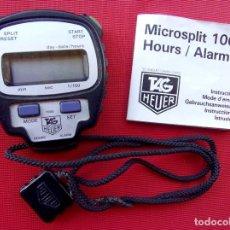Relojes - Tag Heuer: CRONOMETRO DIGITAL TAG HEUER. MICROSPLIT 1000. CON INSTRUCCIONES Y CORREA. SIN PILA.. Lote 224350193