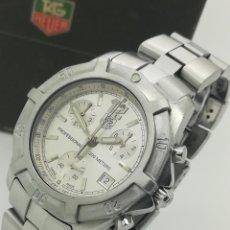 Relojes - Tag Heuer: RELOJ TAG HEUER EXCLUSIVE CHRONO PROFESSIONAL 200M 38MM CN1111 DE CUARZO SEGUNDA MANO. Lote 260669140