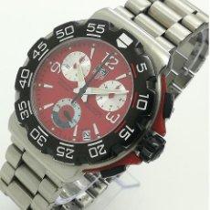 Relojes - Tag Heuer: RELOJ CUARZO TAG HEUER FORMULA 1 CHRONO 200M ROJO CAC1112-0 CON CAJA Y ESTUCHE. Lote 264304100