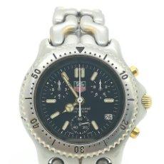 Relojes - Tag Heuer: RELOJ DE CUARZO TAG HEUER LINK SEL CHRONO 38MM REF. S35.006M 1990'S DE SEGUNDA MANO. Lote 296879328
