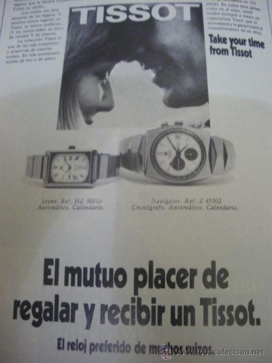 Relojes - Tissot: LOTE DE PUBLICIDAD DE RELOJES TISSOT. - Foto 3 - 25754018