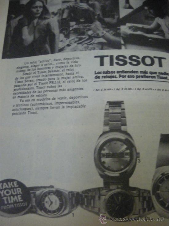 Relojes - Tissot: LOTE DE PUBLICIDAD DE RELOJES TISSOT. - Foto 5 - 25754018