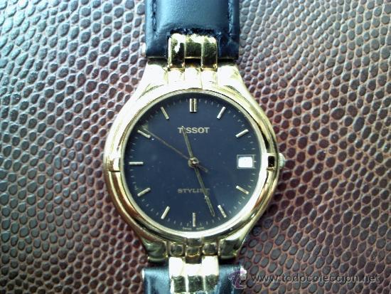 RELOJ MARCA TISSOT QUARTZ CHAPA DE ORO CRISTAL ZAFIRO CORREA NUEVA (Relojes - Relojes Actuales - Tissot)