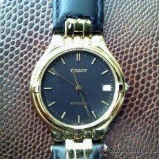Relojes - Tissot: RELOJ MARCA TISSOT QUARTZ CHAPA DE ORO CRISTAL ZAFIRO CORREA NUEVA. Lote 34989063