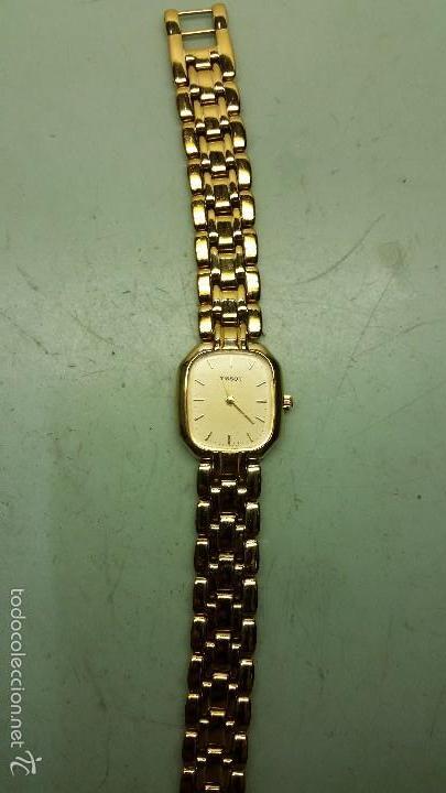 RELOJ DE SEÑORA TISSOT CHAPADO DE ORO, CUARZO (Relojes - Relojes Actuales - Tissot)
