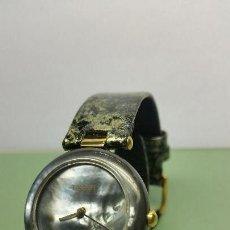 Relojes - Tissot: RELOJ DE SEÑORA CON MODULO SUIZO MARCA TISSOT CON CORREA DE CUERO NEGRA GRIS ORIGINAL NUEVO. Lote 57139906