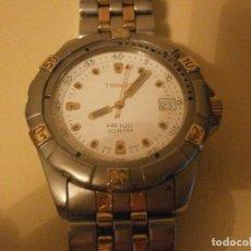 Relojes - Tissot: RELOJ CABALLERO TISSOT PR 100 10 ATM ACERO ADORNOS DORADO 4,5 X 4 CM. CUARZO CORREA ORIGINAL. Lote 93043620