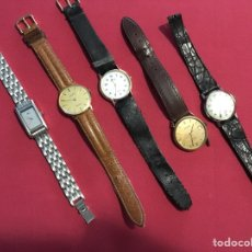 Relojes - Tissot: LOTE (5) ANTIGUOS RELOJES DE PULSERA. Lote 104776050