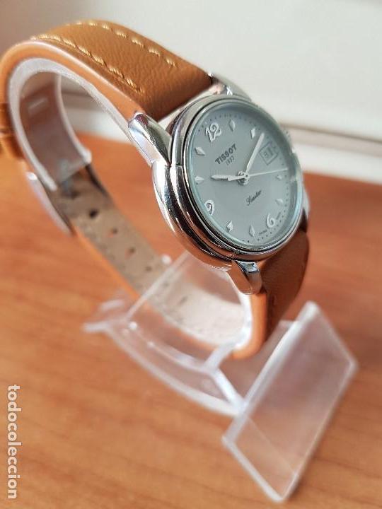 Relojes - Tissot: Reloj señora Tissot 1853 en acero con calendario a las tres, correa de cuero marrón nueva sin uso - Foto 4 - 105748611