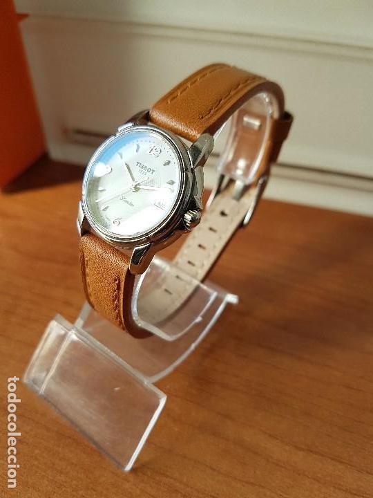 Relojes - Tissot: Reloj señora Tissot 1853 en acero con calendario a las tres, correa de cuero marrón nueva sin uso - Foto 5 - 105748611