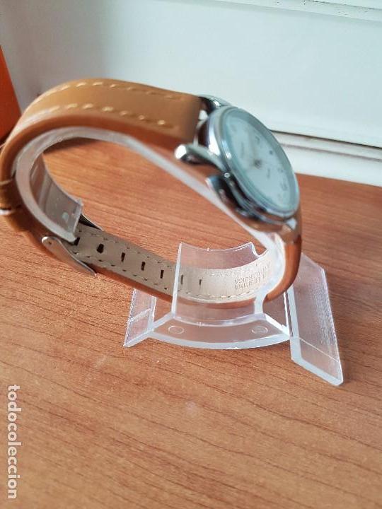 Relojes - Tissot: Reloj señora Tissot 1853 en acero con calendario a las tres, correa de cuero marrón nueva sin uso - Foto 6 - 105748611